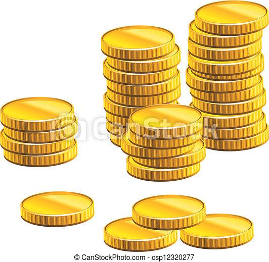 Viele Goldmünzen - csp12320277