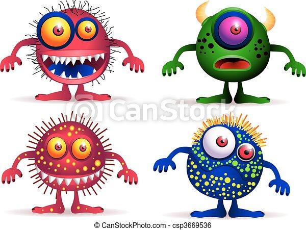 Vier süße Kreaturen. - csp3669536
