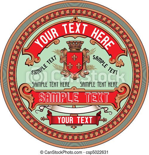Vintage Label - csp5022631