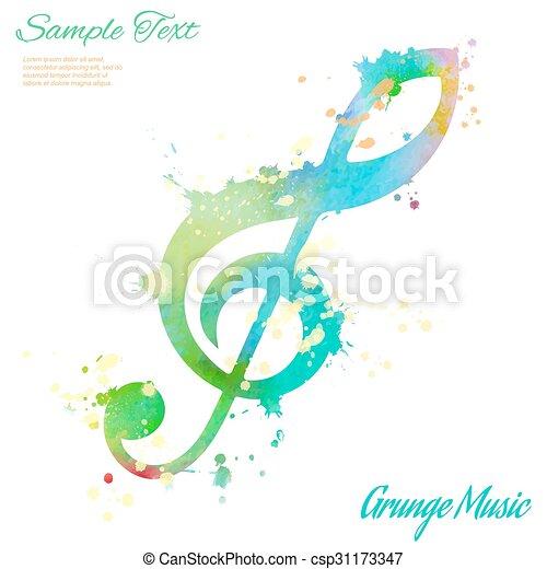 violinschlüssel aquarell violinschlüssel elemente
