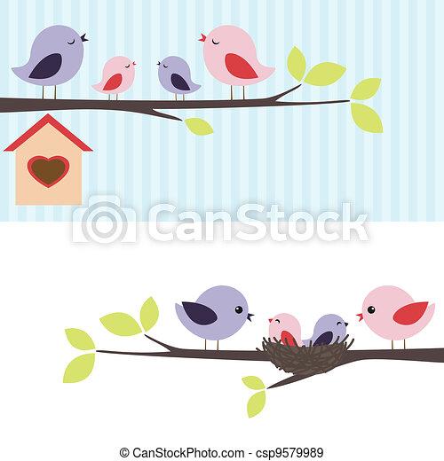 Vogelfamilie - csp9579989