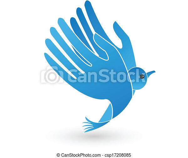 Vogelhände als Flügellogo - csp17208085