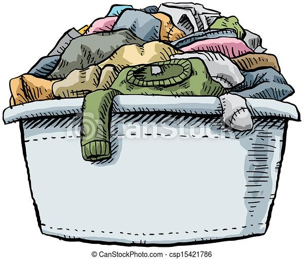 voll, wäscherei - csp15421786