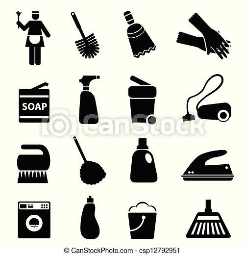 vorräte, werkzeuge, putzen - csp12792951