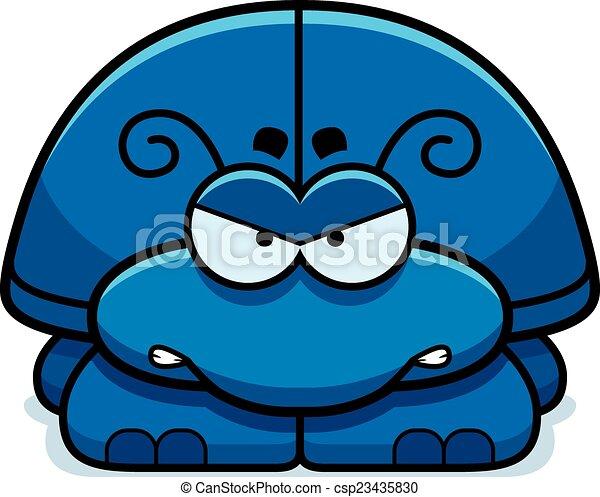 Wütend kleiner Käfer. - csp23435830