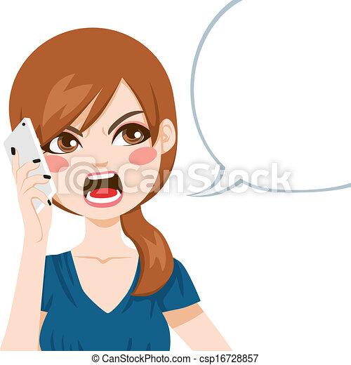 Wütender Anruf - csp16728857