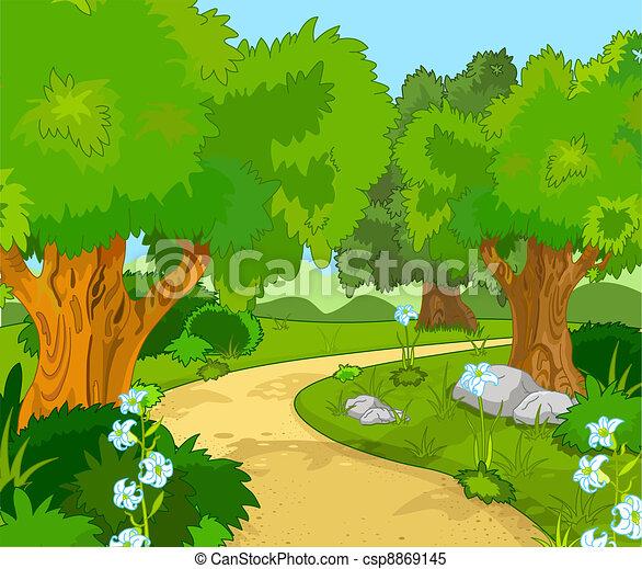 Waldlandschaft - csp8869145
