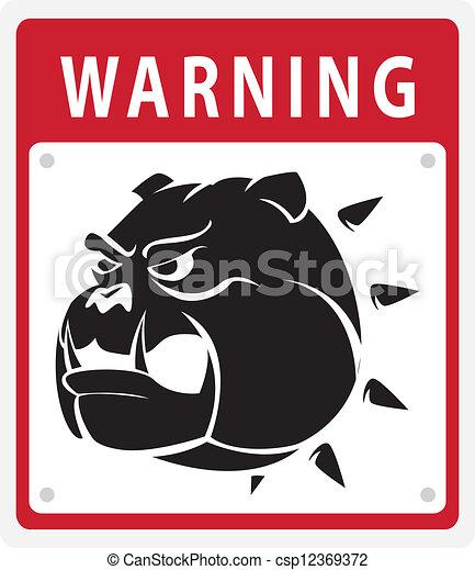 warnung, hund - csp12369372