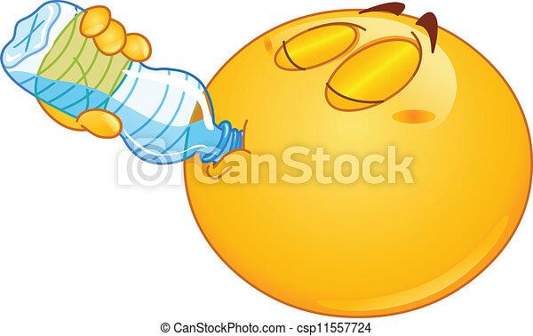 wasser, emoticon, trinken - csp11557724
