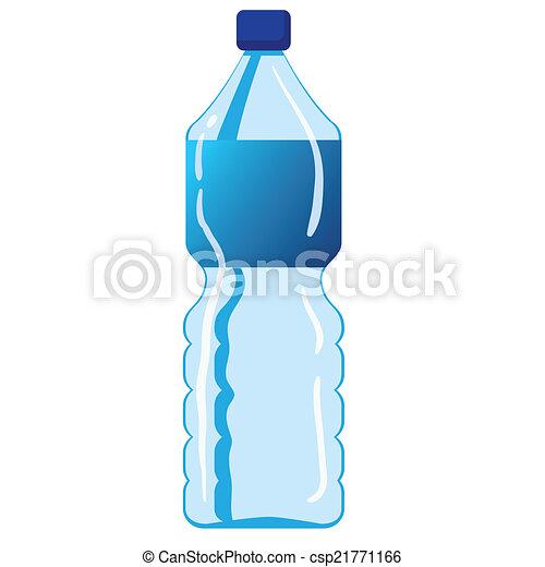 wasser, mineral, flasche - csp21771166