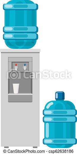 Wasserkühler mit voller Flasche. - csp62638186