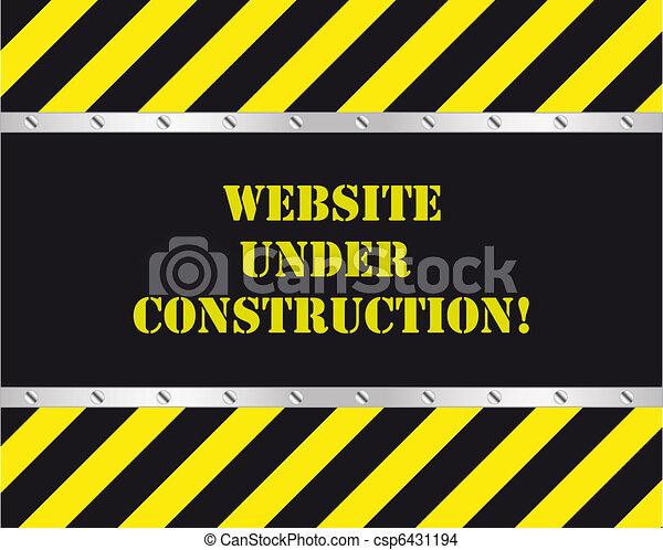 Website im Bau. - csp6431194