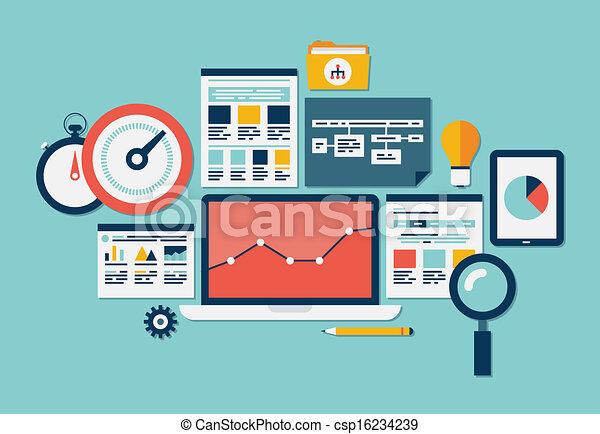 Website SEO und analytische Ikonen - csp16234239
