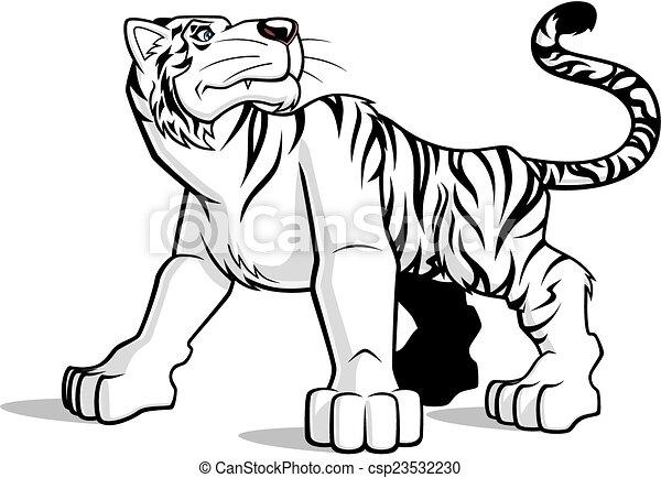 Weißer Tiger. - csp23532230