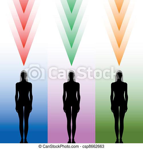 Weibliche Körpersilhouette - csp8662663