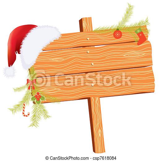 Weihnachts-Hintergrund für Texte mit Urlaubselementen auf weiß - csp7618084
