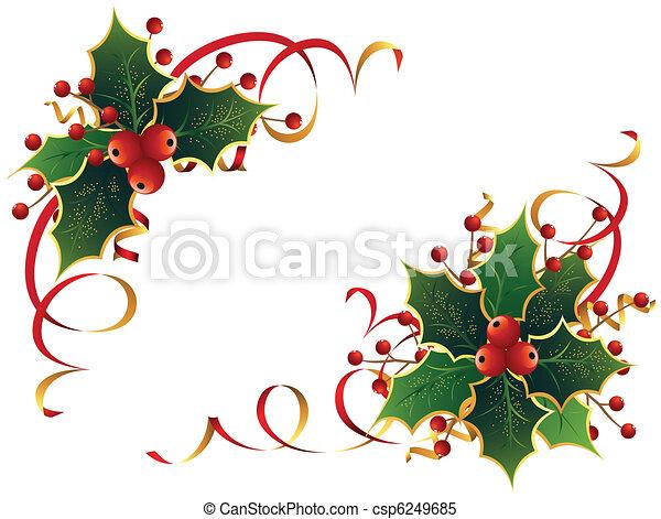 Weihnachts-Holly - csp6249685
