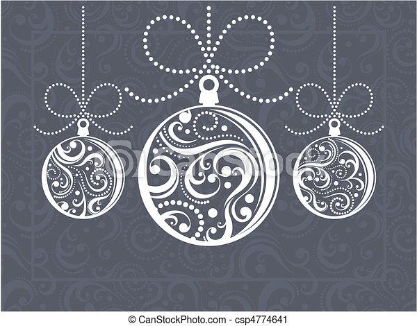 Weihnachtsbälle Grußkarte - csp4774641