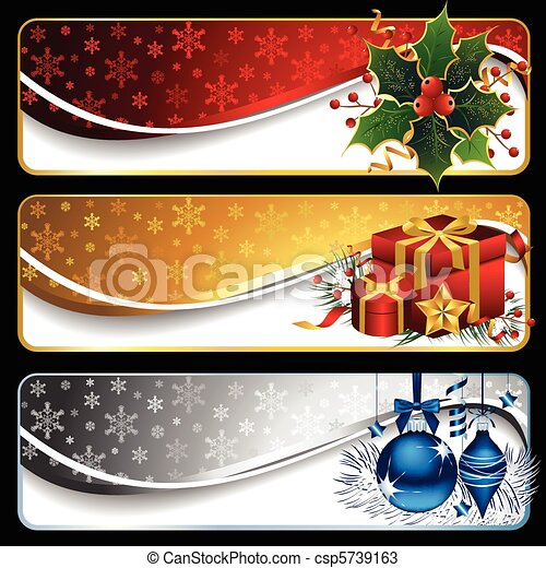 Weihnachtsbanner - csp5739163