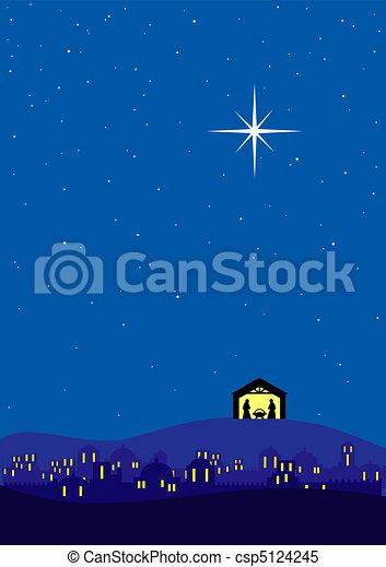Weihnachtsgeschichte. - csp5124245