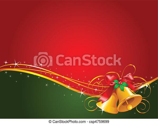 Weihnachtsglocken im Hintergrund - csp4759699