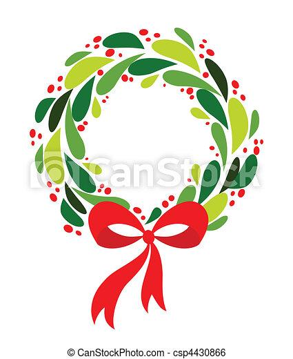 Weihnachtskranz - csp4430866