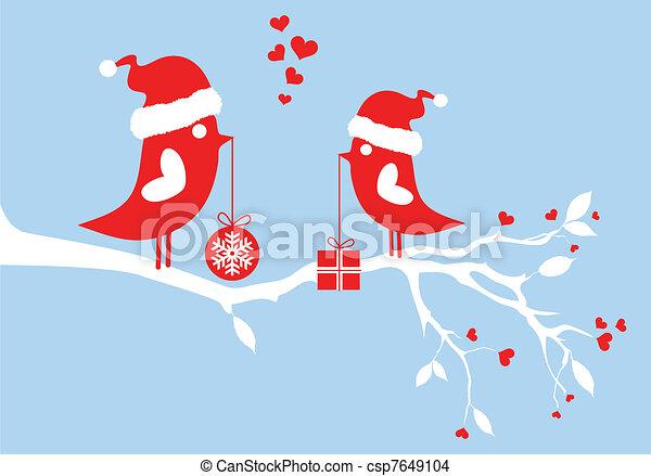 Weihnachtsmannvögel, Vektor - csp7649104