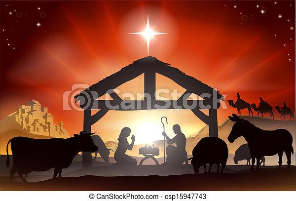 Weihnachtsszene - csp15947743