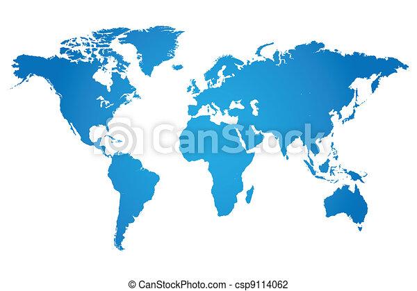 welt, abbildung, landkarte - csp9114062