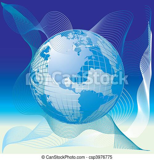 welt globus, landkarte, 3d - csp3976775