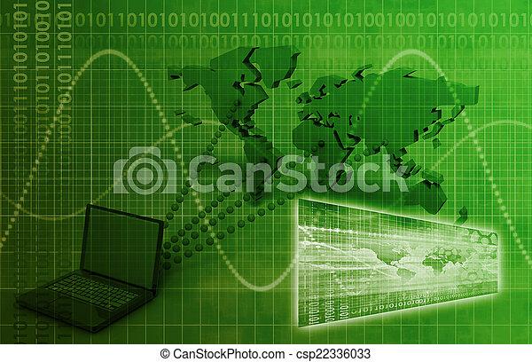 weltweit, konnektivität, edv - csp22336033