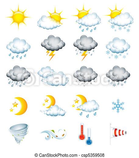 Wetter-Ikonen - csp5359508