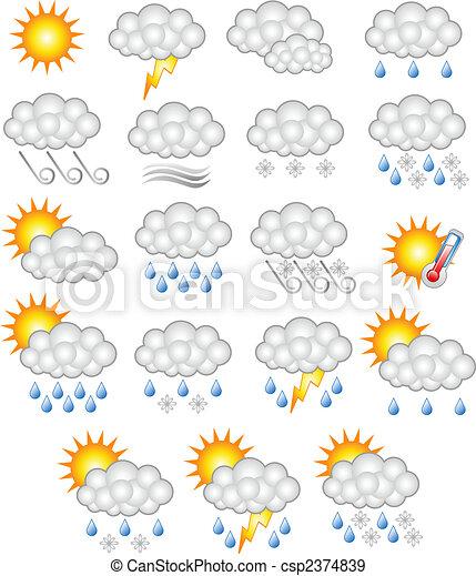 Wettervorhersage für das Geschäft - csp2374839