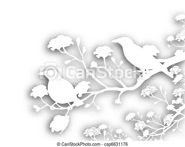 Wilde Vögel, abgeschnitten - csp6631176