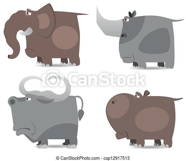 Große, wilde Tiere - csp12917513