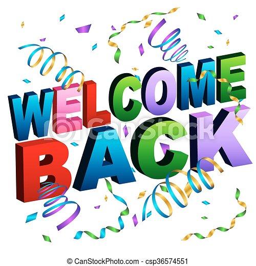 Willkommen zurück. - csp36574551