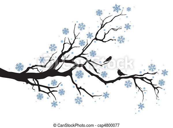 Winterzweig. - csp4800077