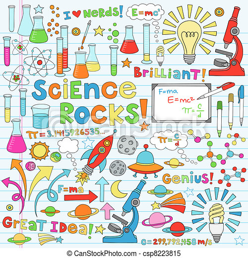 Science-Doodles Vektor Illustration - csp8223815