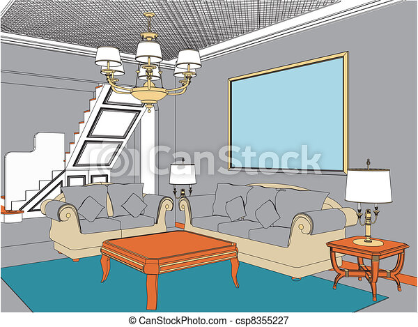 Wohnzimmer - csp8355227