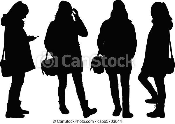woman., silhouette - csp65703844
