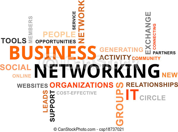 Word Cloud - Business Networking. - csp18737021
