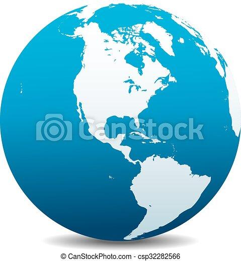 Nord- und Südamerikanische globale Worl - csp32282566