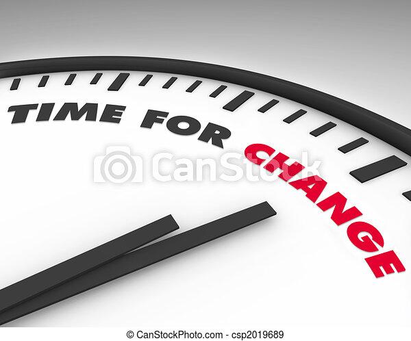 Zeit für Veränderung - Uhr - csp2019689
