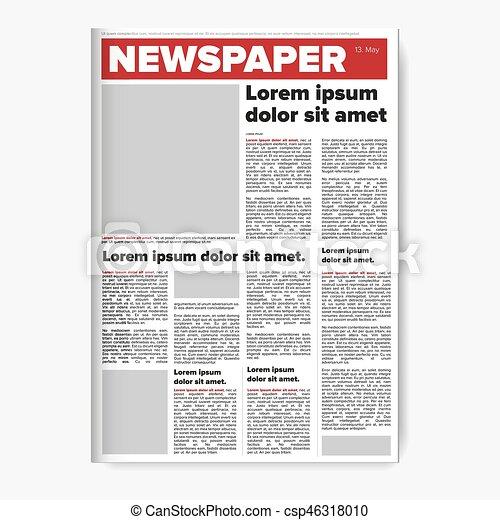 Zeitungs-Layout-Vektor. - csp46318010