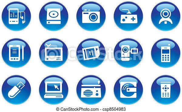 Elektronische Geräte-Ikonen - csp8504983