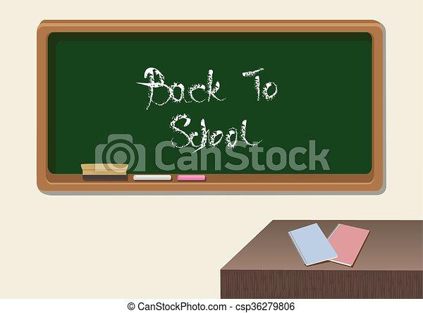 Zurück ins Klassenzimmer, Vektorgrafik. - csp36279806