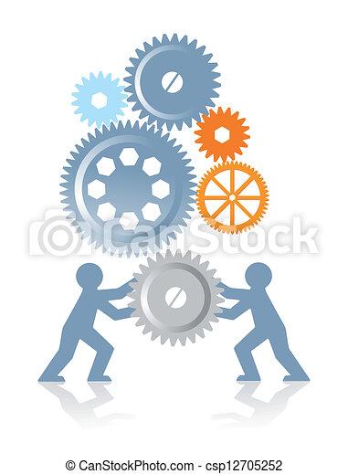 Kollaboration und Macht - csp12705252
